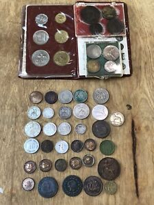 Lot of world coins silver England Germany USA Netherlands India France America