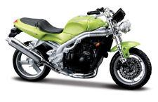Motorrad Modell 1:18 Triumph Speed Triple gruen von Maisto mit Wunschkennzeichen
