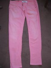 Jean MET IN JEANS  rose SLIM SKINNY MOULANT Taille basse stretch  TBE