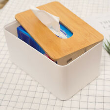 Wooden Cover Plastic Tissue Box Paper Holder Dispenser Organizer for Home Car zx