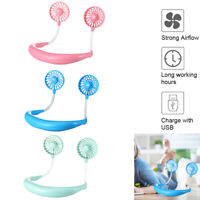 Portable Neck Hanging Fan Air Cooler Outdoor Travel USB Charging Small Fan