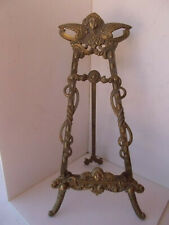 """Large 18"""" Ornate Brass Plate Picture Easel Display Holder Stand"""