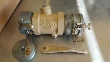 """4"""" aluminum o-ring butterfly valve with cam lock male caps on both ends"""