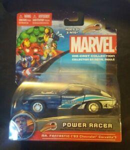 Maisto Power Racer Marvel MR. Fantastic 1963 Corvette 1/48 RARE (AB1-2)