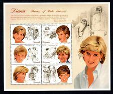 Princess Diana, Princess of Wales (1961 - 1997) Grenada - Full Stamp Sheet