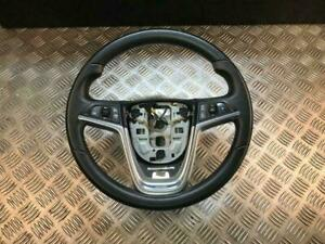 12-18 VAUXHALL ASTRA GTC MULTIFUNCTION LEATHER STEERING WHEEL (SCRATCHED)
