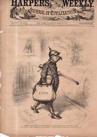 1880 Harpers Weekly - Nast - Germany's Bismarck resigns again