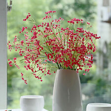 Fancy Artificial Fake Silk Flowers Gypsophila Home Party Wedding Bouquet Decor Red