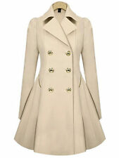 Womens Winter Lapel Stylish Long Parka Coat Trench Ladies Fashion Outwear Jacket