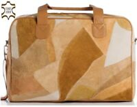 Elegante braune Damentasche aus echt Leder | Wochenendtasche | Urlaubstasche