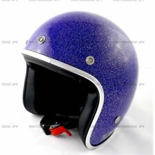 Casco Torx Wyatt Glitter Blue Bol Taglia S Blu lucido Motorrad Vintage