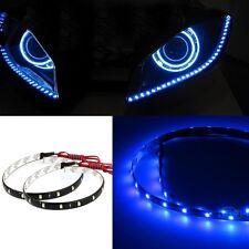 """2x 30 SMD 24"""" 60cm Blue LED Side Shine Strip Bulb Fog DRL Head Slim Light W 1"""