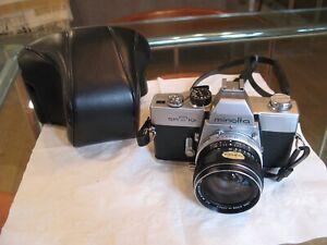 vintage MINOLTA SR-T 101 w.rokkur SG 3.5 28mm 35mm SLR CAMERA srt-101 srt101