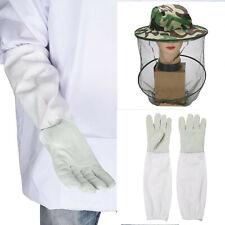 Beekeeping Gloves Bee Keeping Long Sleeves Vented Protect Veil Mesh Mask Bee Hat