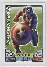 2011 Topps Hero Attax Marvel #50 Captain America Non-Sports Card 0p3