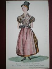 POSTCARD SOCIAL HISTORY WELSH GIRL IN COSTUME OF GWENT (1)