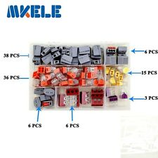 110PCS Wire Connector for 3 Room Mixed 7 Models Mini Terminal Block In Box