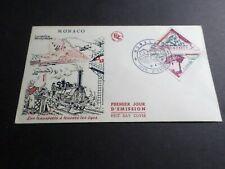 Monaco 1956, FDC 1° Day Trains, Locomotive, VF