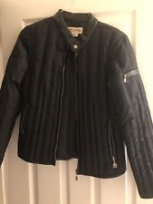 Michael Kors Women's Leather Jacket, Size M, Black Leather