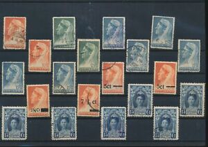 LN18392 Suriname queen Wilhelmina classic lot used