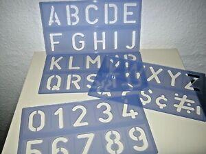 Schriftschablone, 100 mm Großbuchstaben und Ziffern