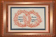 VIGNETTE militaire Delandre France 4 septembre 1870, Russie 18 mapma 1917, label