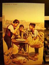 Cartolina 124 - NAPOLI Venditore di scope  Riproduzione da originale  8,6 x 13,6