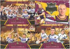 2006 SELECT NRL PREMIERS SET: BRISBANE BRONCOS/DARREN LOCKYER/SHANE WEBCKE