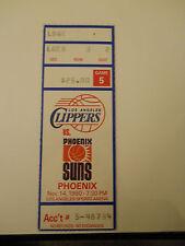 1990-91 Los Angeles Clippers vs. Phoenix Suns Ticket Stub (SKU2)