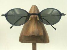 Vintage Norma Kamali 7123 Purple Blue Oval Eyeglasses Sunglasses Frames Italy