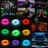 Useful Glow LED Light El Wire String Strip Rope With Battery Box Suit 1 3 5M