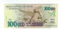 100000 Cruzeiros Brasilien 1993 UNC C229 / P.235c - Brazil Banknote