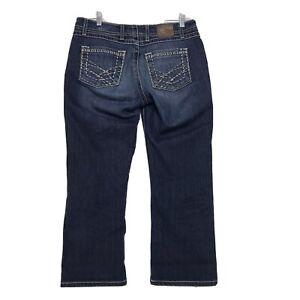 BKE Harper Capri Jeans Womens Size 29 Blue Medium Distressed Wash