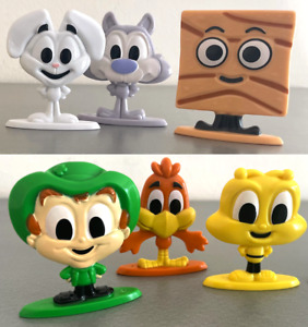 NEW & SEALED General Mills CEREAL SQUAD Complete Set (ALL SIX FIGURES #1-6)