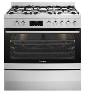 Westinghouse 90cm Freestanding Dual Fuel Oven/Stove Model WFE914SC RRP $2799.00