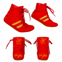 Viper Boxing Boots Mens Boys Boxing Footwear Boxing Shoes Red
