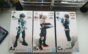 My Hero Academia Todoroki Deku Bakugo Masterlise Ichibankuji A B C Figure set