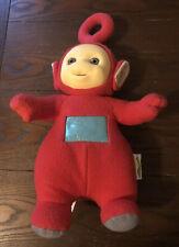 "Vintage 1998 Playskool Teletubbies 15"" Talking PO Red Plush Stuffed Doll Works"