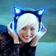 Wired Cat Ear Headphones noise reduction Over the ear Detachable gaming mic