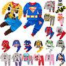 Cartoon Sleepwear Baby Kids Boys Girls Nightwear Pyjamas Set Outfit Homewear
