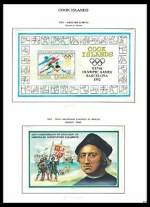 COOK ISLANDS 1992 ISSUES ON 2 PAGES (MNH) *CLEAN & FRESH*
