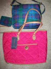 Tommy Hilfiger 3-in-1 Quilted Nylon 6926463 661 Pink LG Shopper and X-body, NWT