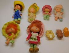 VINTAGE STRAWBERRY SHORTCAKE LOT OF 6 DOLLS WITH PETS KENNER