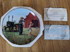 Danbury Mint Farming The Heartland Daddy's Little Helper Plate By Emmett Kaye