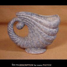 Antique Roseville Mottled Blue Carnelian Horn of Plenty / Cornucopia Vase 556-6