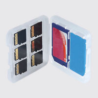 8 Slots Plastic Memory Card Protecter Box Storage Case Holder SD/SDHC/MMC Holder