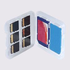 8 Slots Transparent Useful SD SDHC Memory Card Case Holder Box Storage New