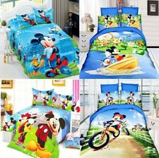 New Bed Line Set Disney Mickey Mouse Blanket Duvet Cover Pillow Bed Single Twin