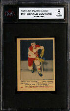 1951-52 PARKHURST #17 GERALD COUTURE SHARP CORNERS PACK FRESH ROOKIE KSA 8 NM-MT