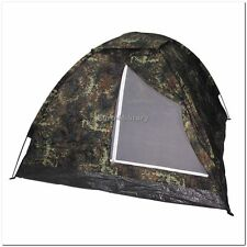 Military Tactical 3 Man Outdoor BW German Army Camo Shelter Tent - Brand New